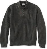 L.L. Bean Blue Jean Sweater, Military Henley