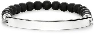 Thomas Sabo Love Bridge engraveable obsidian bracelet, Women's, Size: 15CM, silver