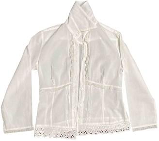 Ohne Titel White Cotton Top for Women