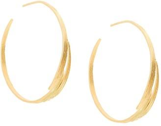 Wouters & Hendrix My Favourite bamboo leaves hoop earrings