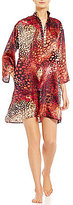N by Natori Wilderness Satin Chiffon Tunic Sleepshirt