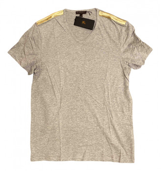 Burberry Anthracite Cotton T-shirts