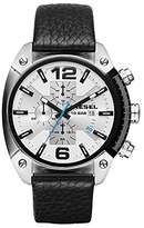 Diesel Men's DZ4413 Overflow Stainless Steel Black Leather Watch
