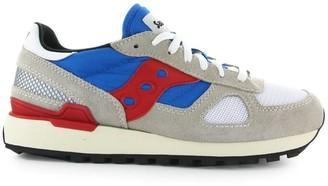 Saucony Shadow Vintage Grey Blue Red Sneaker