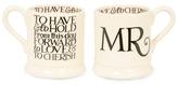 Emma Bridgewater Mr And Mr Half Pint Mugs