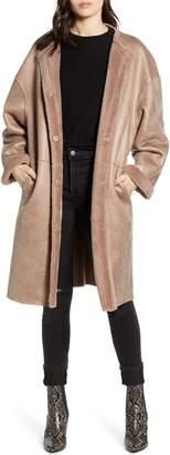 Rebecca Minkoff Mara Faux Shearling Lined Wool Coat