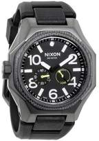 Nixon A505-1531 Quartz Men's Black Silicone Bracelet With Black Analog Dial NWT