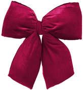 Asstd National Brand Large 24 x 27 Commercial Size Burgundy Red Indoor Velvet Christmas Bow