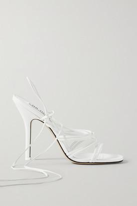 ATTICO Fiona Leather Sandals - White