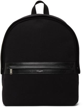 Saint Laurent Black Camp Backpack