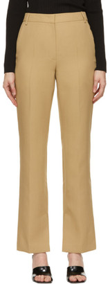 System Tan Slit Trousers