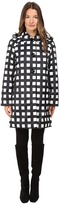 Kate Spade Check Raincoat 37 Women's Coat
