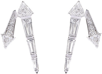 Nikos Koulis Energy 18k White Gold Diamond Stud Earrings