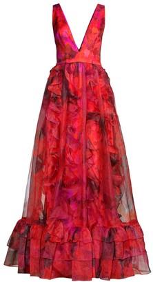 Flor Et. Al Brett Organza Gown