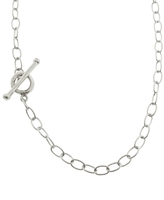 Cathy Waterman Fine 18 Inch Lacy Chain Necklace - Platinum
