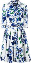 Samantha Sung floral-print flared dress