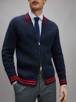 Tommy Hilfiger Cable Knit Bomber Zip-Thru Cardigan