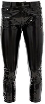 Junya Watanabe Cropped Vinyl Skinny Trousers - Black