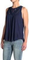 Lucky Brand Lace-Yoke Tank Top (For Women)