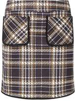 Dorothy Perkins Yellow Checked Pocket Mini Skirt