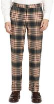 Brooks Brothers Green Plaid Belt Loop Trousers