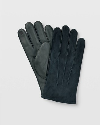 Club Monaco Tech-Enabled Suede Blocked Gloves