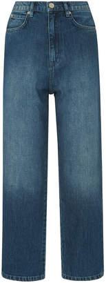 Whistles Side Stripe Wide Leg Jean