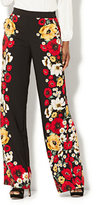 New York & Co. Palazzo Pant - Black Floral Print