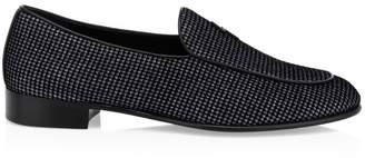 Giuseppe Zanotti Embellished Suede Loafers