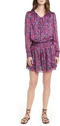 Ramy Brook Gessie Long Sleeve Print Silk Dress