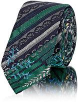 Thom Browne Men's Striped & Floral Jacquard Necktie