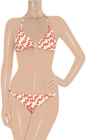 Diane von Furstenberg Kaylin floral-print triangle bikini top