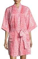 BedHead Wild Thing Short Kimono Robe, Coral/Ivory