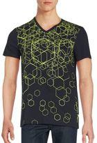 Calvin Klein V-Neck Printed T-Shirt