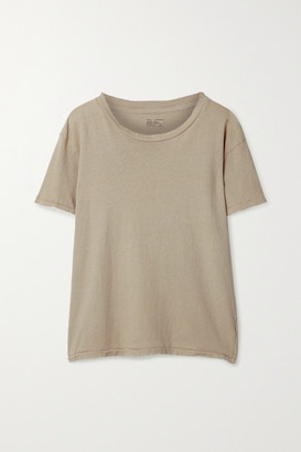 Nili Lotan Brady Distressed Cotton-jersey T-shirt - Beige