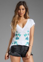Wildfox Couture Tropical Babe Classic V-neck