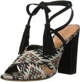 Schutz Women's DAMILA Heeled Sandal Black Multi 10 M US