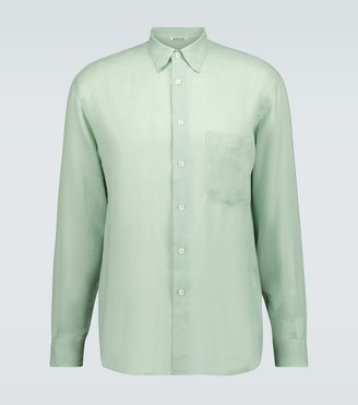 Auralee See-through linen shirt