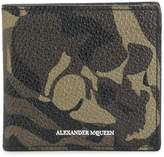 Alexander McQueen camouflage print billfold wallet