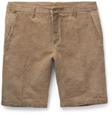 Massimo Alba - Vela Slim-fit Watercolour-dyed Linen And Cotton-blend Shorts