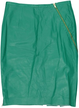 Band Of Outsiders Green Leather Skirt for Women