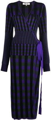 Diane von Furstenberg Tracy ribbed-knit midi wrap dress