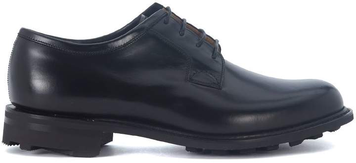 Church's Newbridge 2 Black Brushed Leather Lace Up Shoes