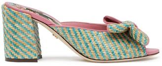 Dolce & Gabbana Bow Detail Raffia Slides