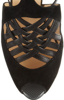 Christian Louboutin Carlota 120 leather and suede sandals