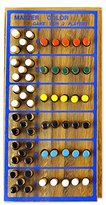 Novica Multicolor Hand Made Rain Tree Wood Peg Game, 'Code Breaker'