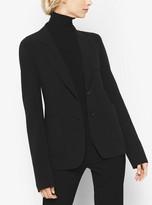 Michael Kors Patch-Pocket Stretch Wool-Crepe Blazer
