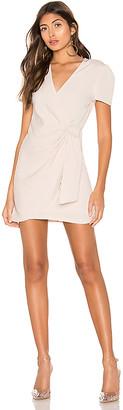 superdown Dione Buckle Wrap Mini Dress