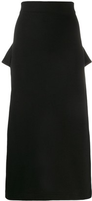 Deconstructed Straight Skirt