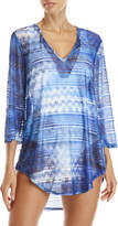 Jordan Taylor Shadow Stripe Cover-Up Tunic